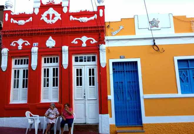 Brasilien, Olinda, typische Häuser der Altstadt