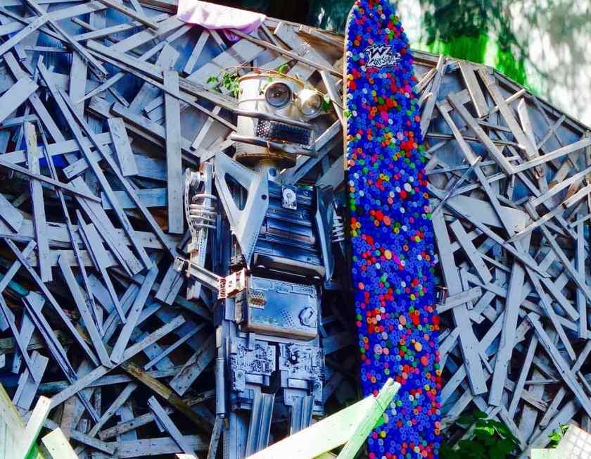 Favela Vidigal Rio de Janeiro, Streetart mit Roboter
