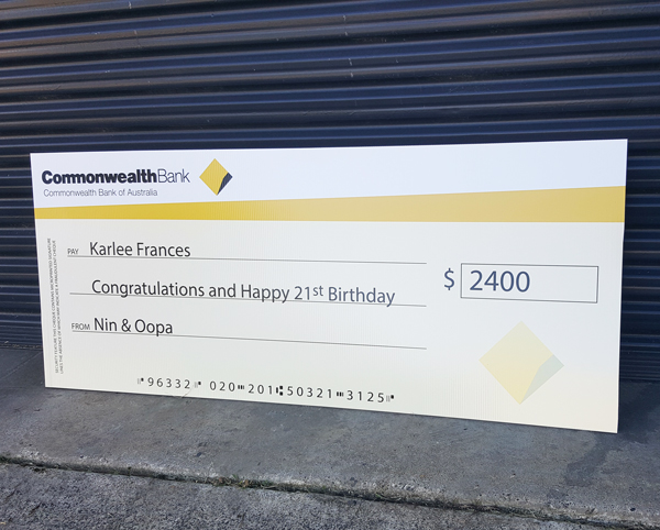 Novelty Cheques Giant Cheques Design And Print Big