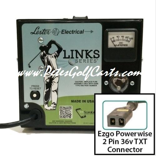 EZGO Golf Cart Battery Charger 36 Volt Lester 36V 21A Links Series