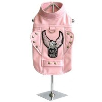 Pink Motorcycle Dog Jacket