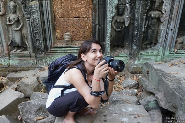 À Angkor. Cambodge, février 2011. © Marie Toumit