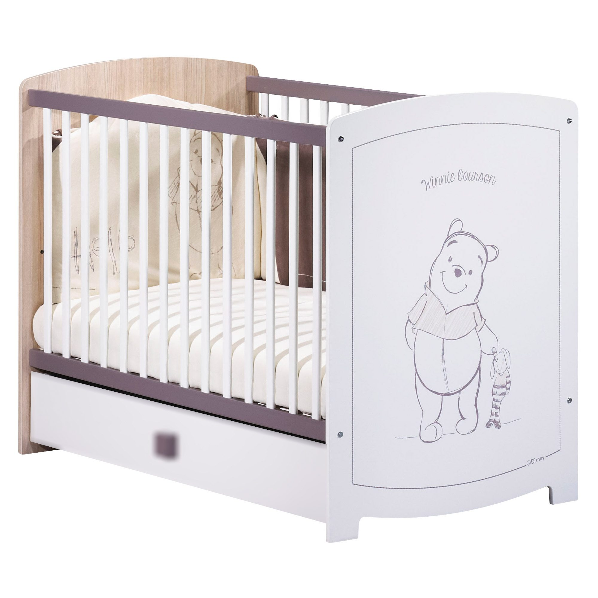 Lit Sauton Lit Bébé 60x120 Non Transformable Winnie Sauthon