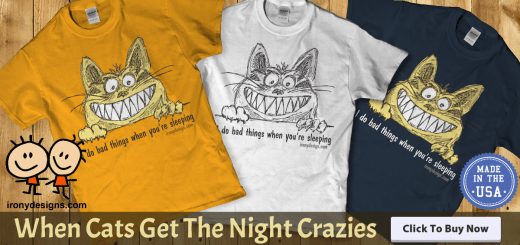 Cat Gets The Night Crazies Gift Products