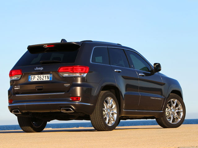 Rear view of the 2013 Jeep Grand Cherokee