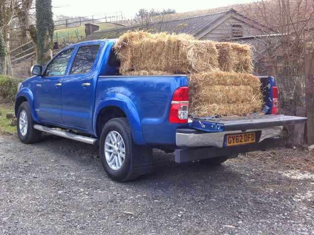 Toyota Hilux Invincible review: hay bales