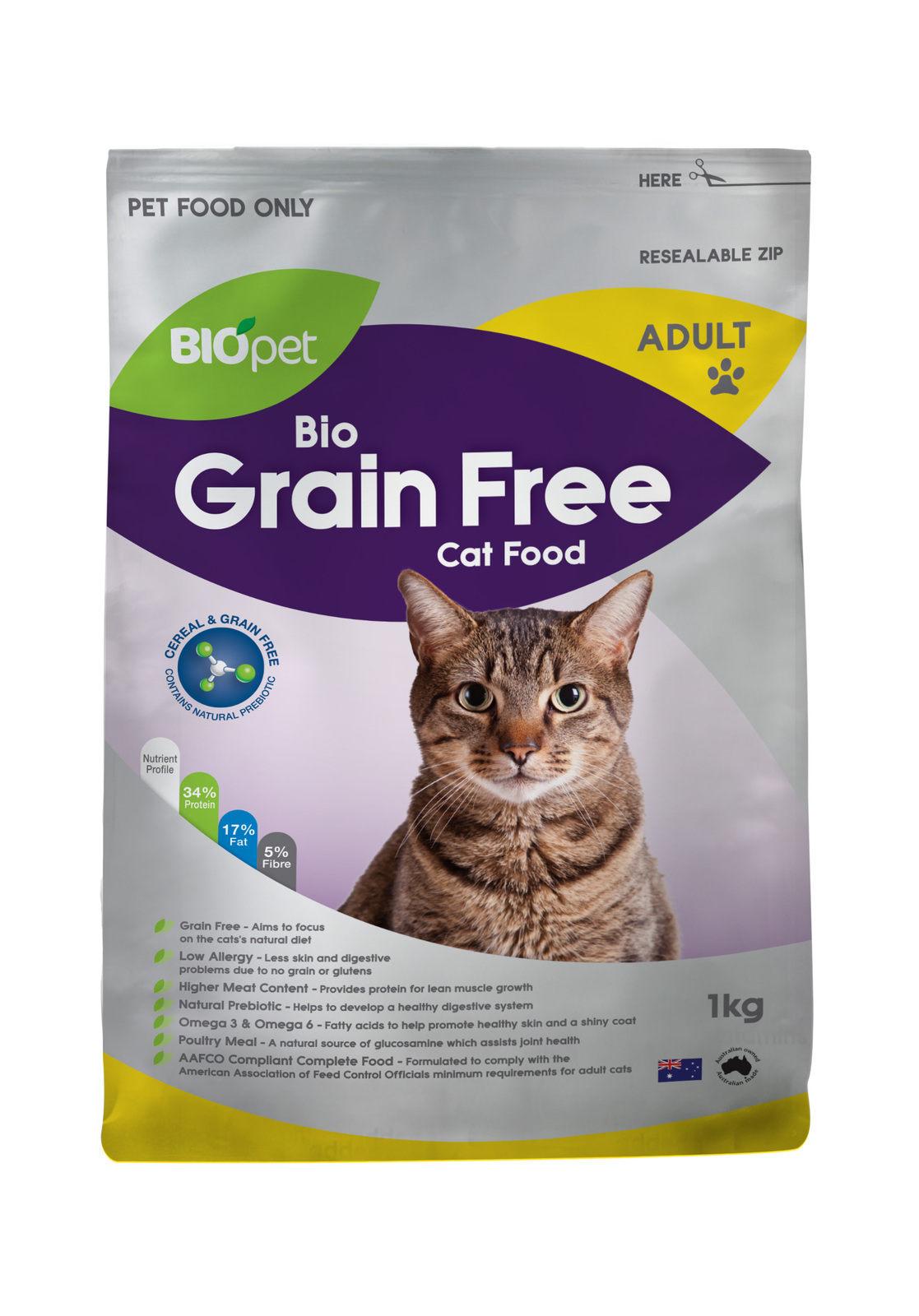 Grain Bio Biopet Bio Grain Free Adult Cat Food 1kg
