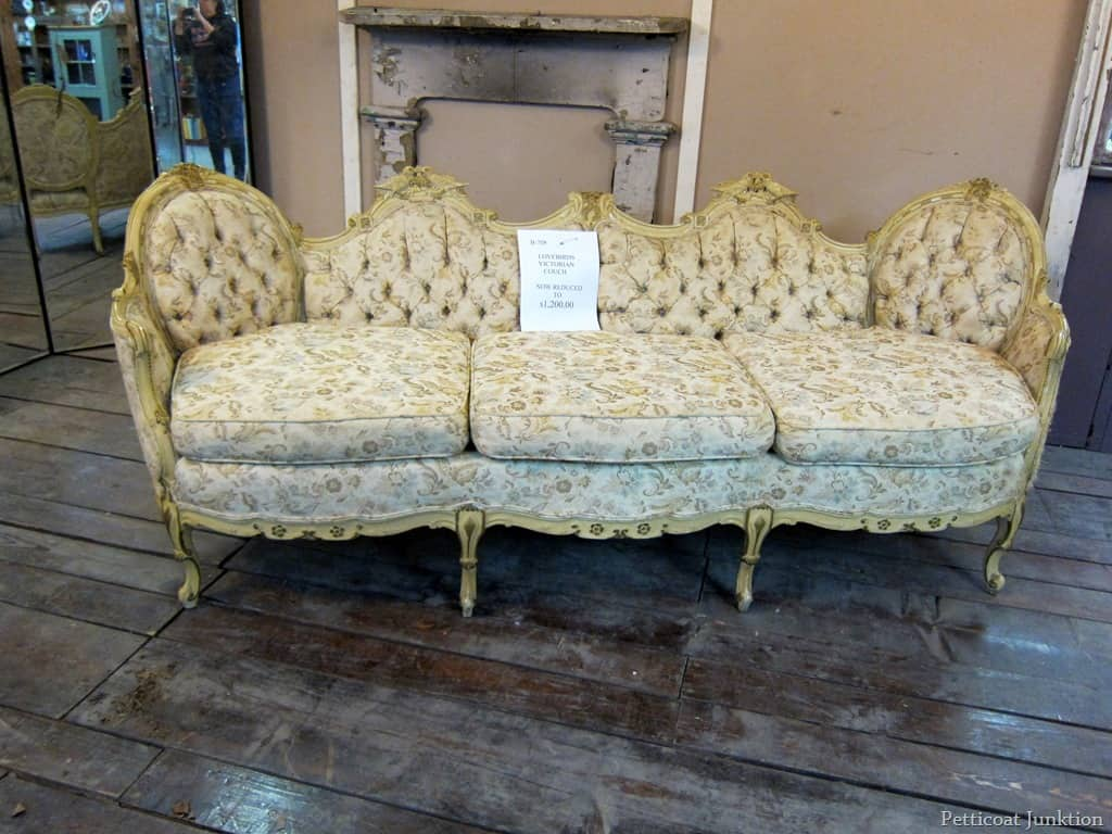 Antike Sofas & Loveseats Swooning Over An Ornate Antique Sofa Petticoat Junktion