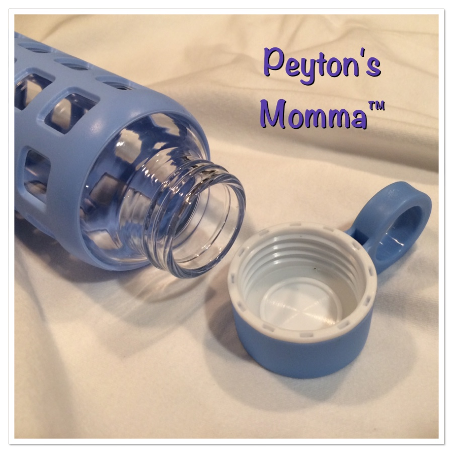 Purifyou Baby Blue Glass Water Bottle