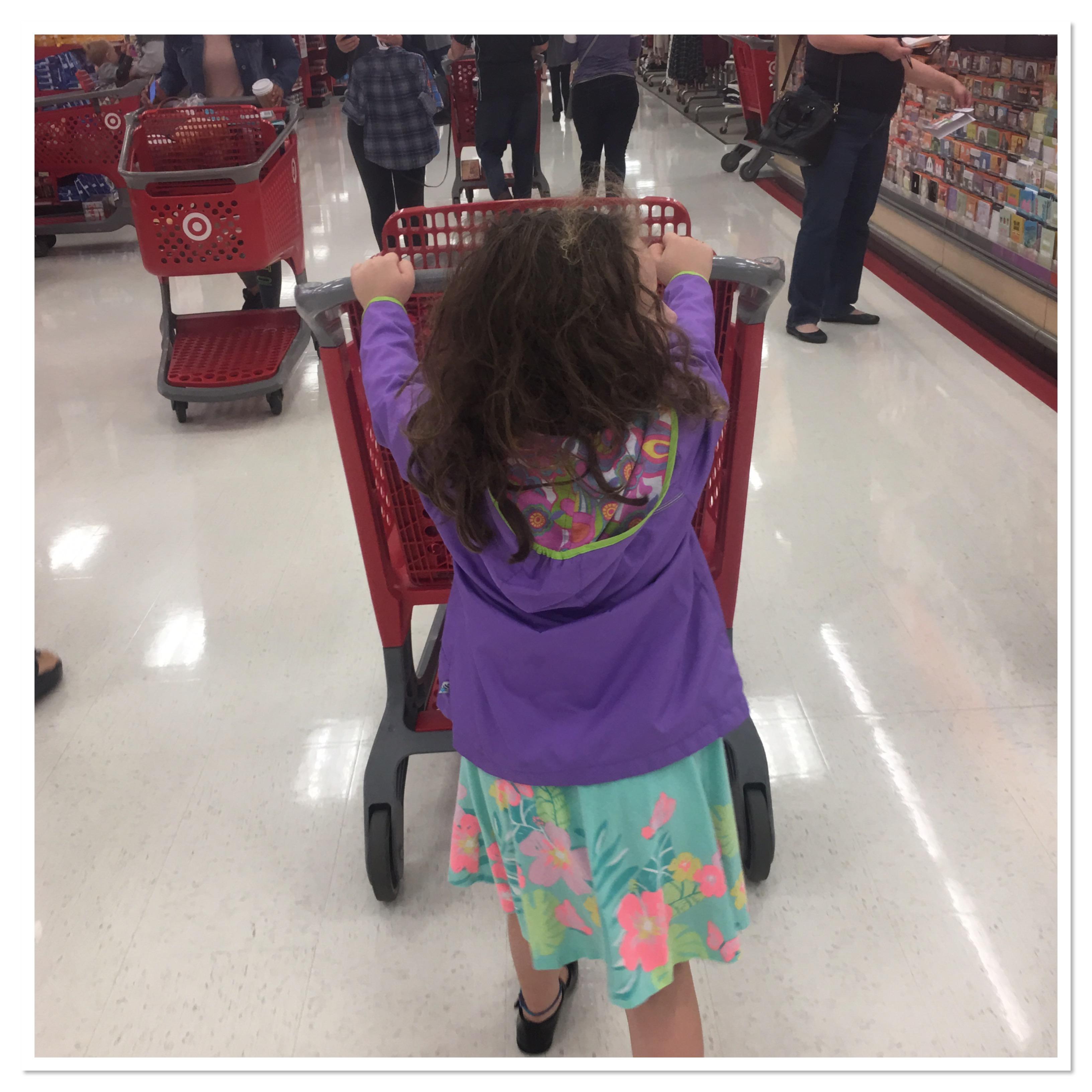 Peyton at Target