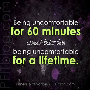 fitness uncomfortable