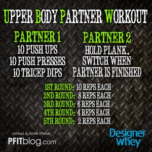 DW UPPER BODY PARTNER WORKOUT