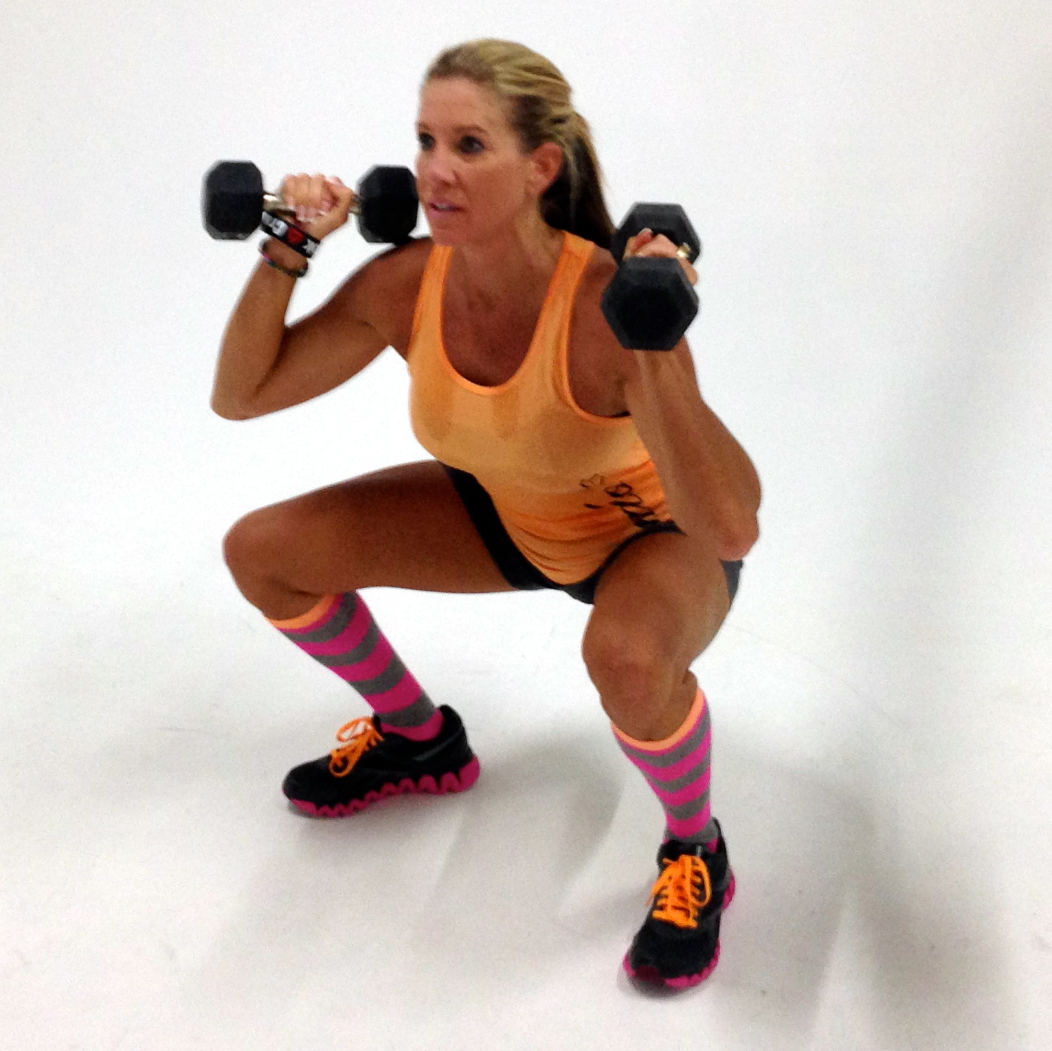 Pfitblog Pfit Pfood Pfaith Leg Butt Toning Circuit Anytime You Use Multi Joint Movements Like Squatting With An Overhead Shoulder Press Burn More Calories And Improve Strength Power