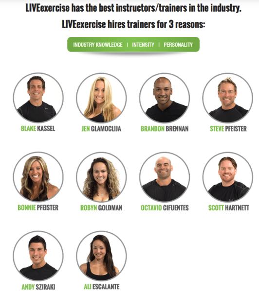 LiveExercise Instructors