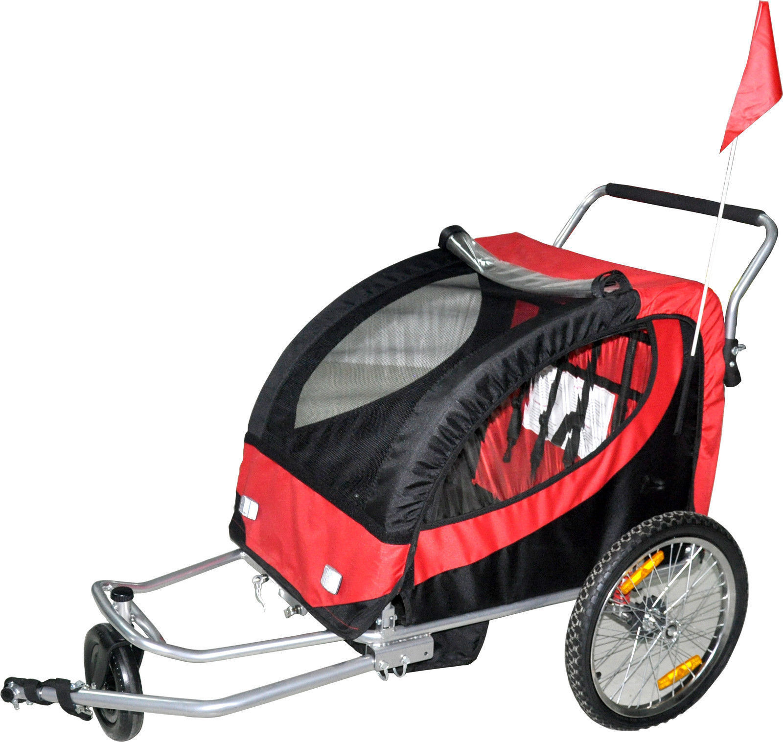 Pet Stroller Houston Double Swivel Red 3in1 Bicycle Bike Trailer Baby Stroller