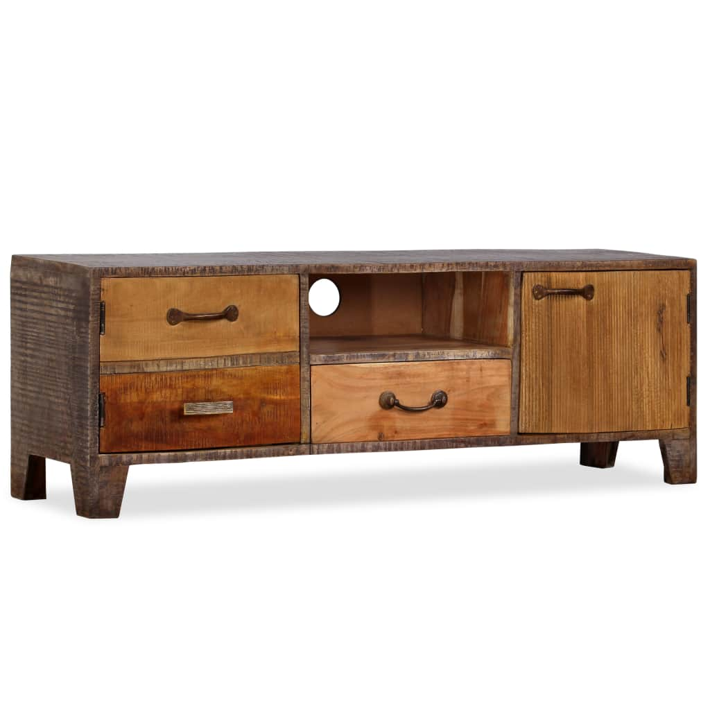 Lowboard Hifi Details About Antique Style Tv Cabinet Hifi Cabinet Lowboard Solid Wood Vintage 118x30x40 Cm