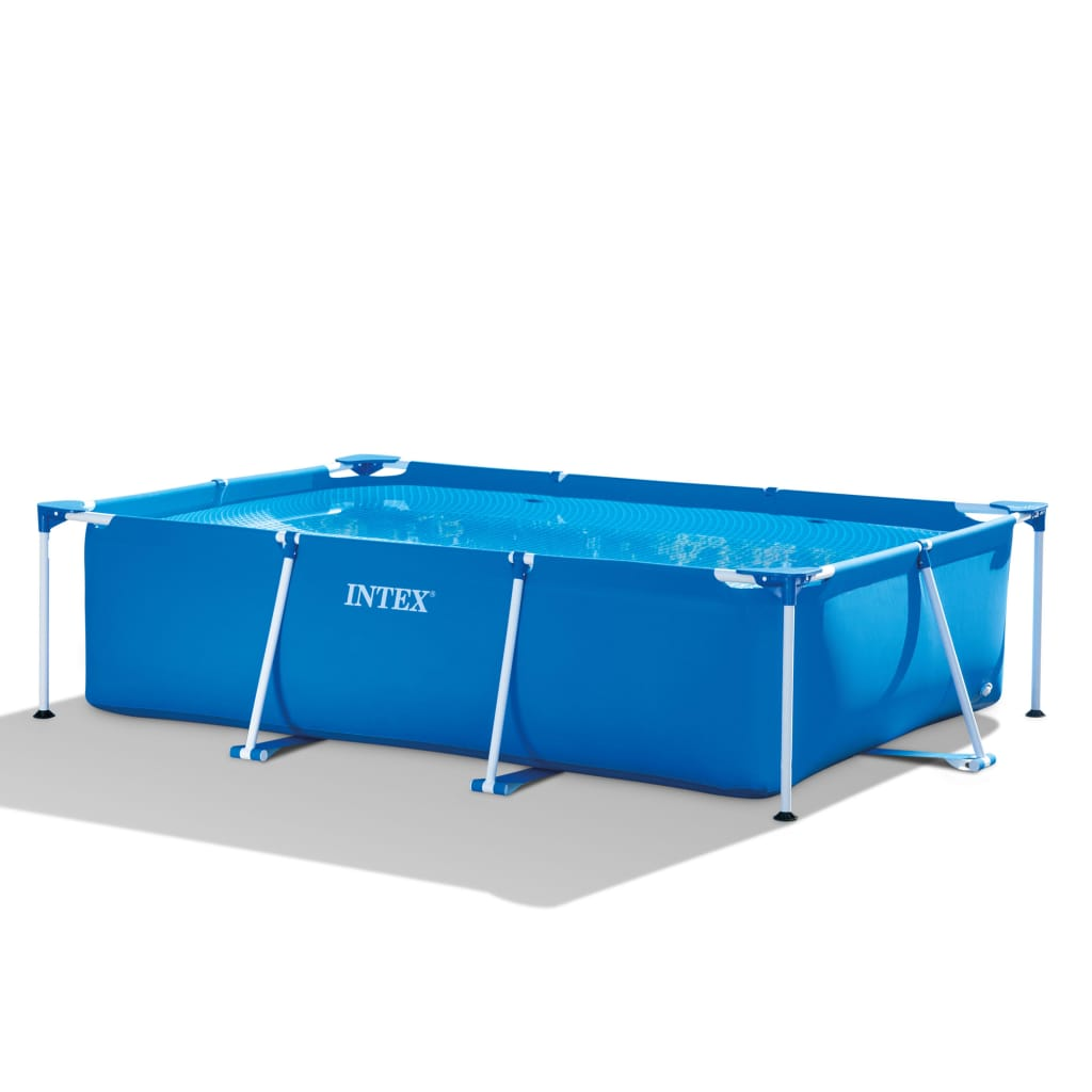 Quick Pool Zubehör Details About Swimming Pool Outdoor Summer Water Centre Blue Rectangular Frame 300x200x75cm