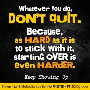 starting over is harder