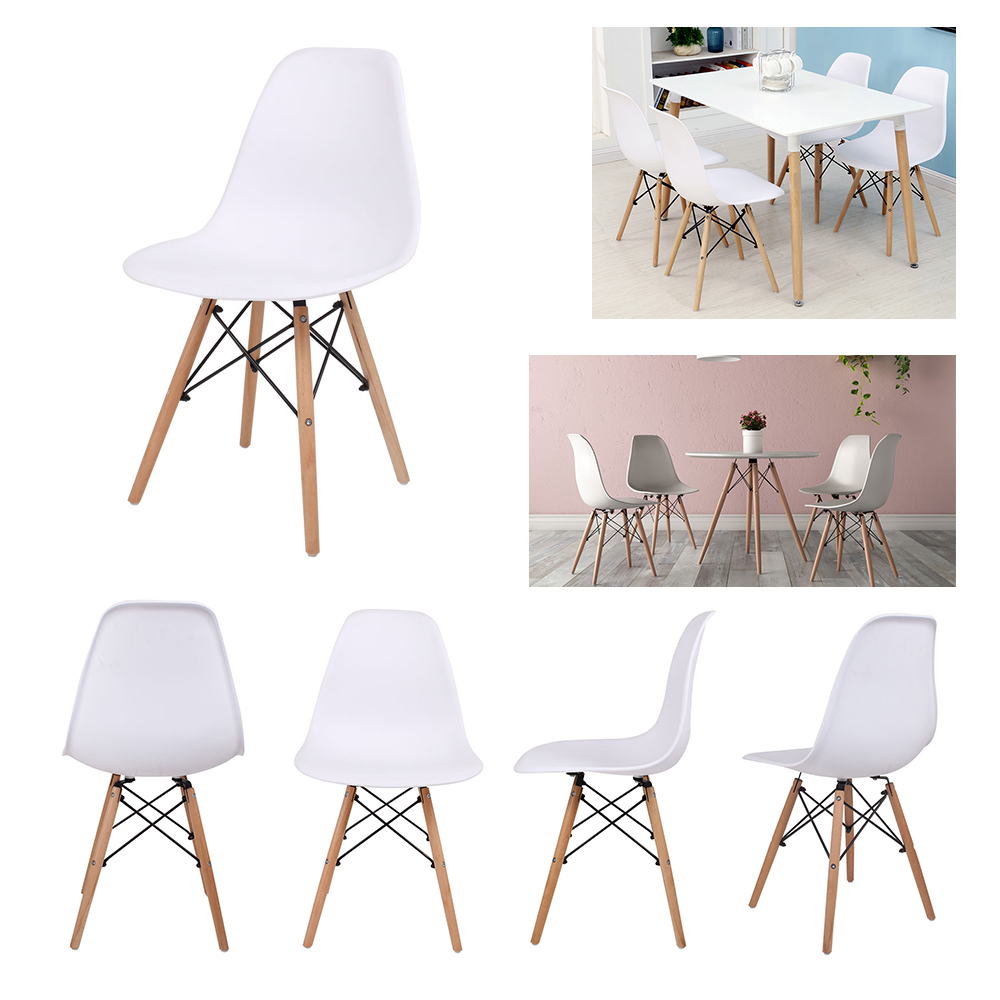 Designer Chairs Used Details About Set Of 4 Inspired Designer Plastic Dining Chairs Wood Leg Office Lounge Study