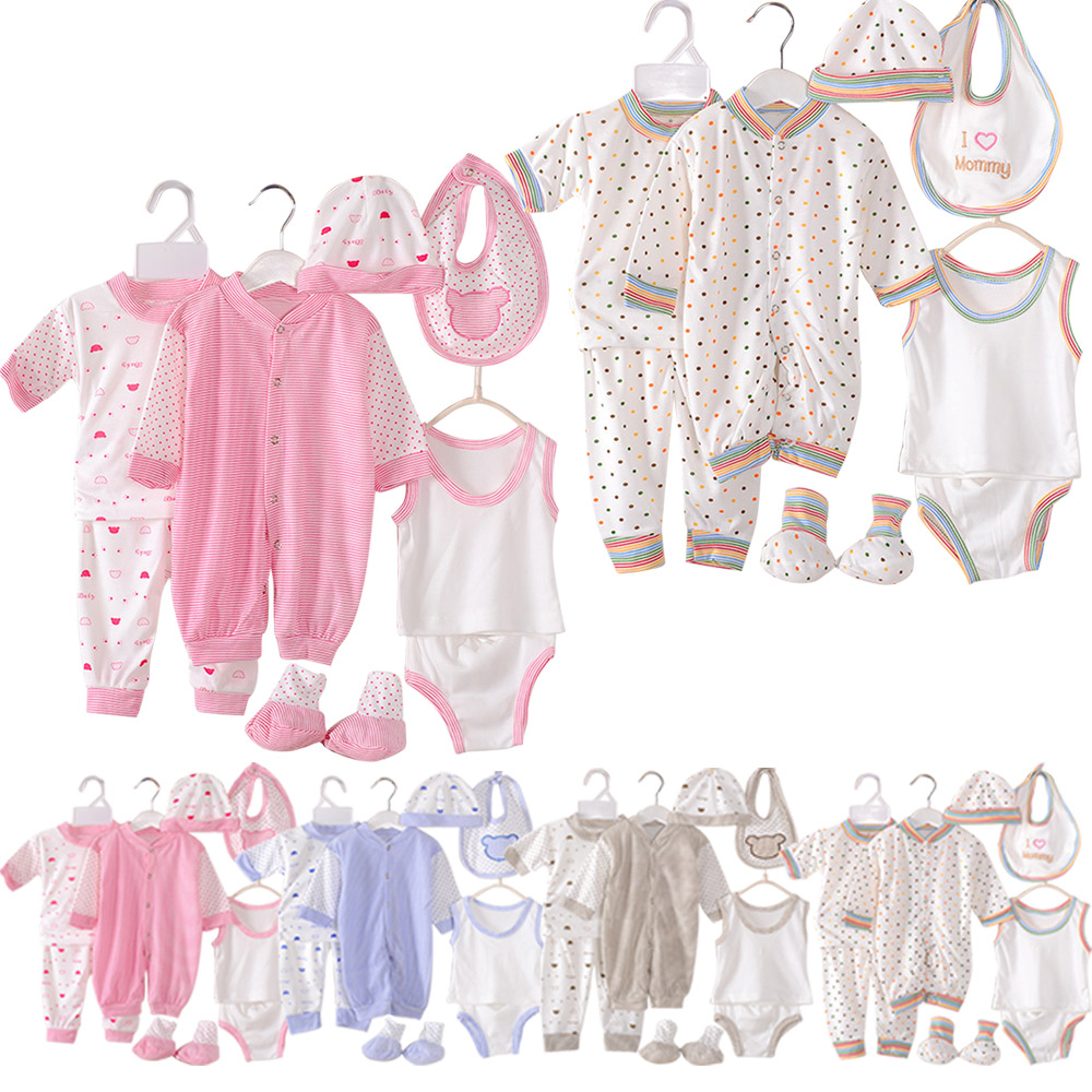 Newborn Infant Outfits Details About Cute Newborn Baby Clothes Unisex Infant Outfits Layette Set With Stripe Dot 8pcs