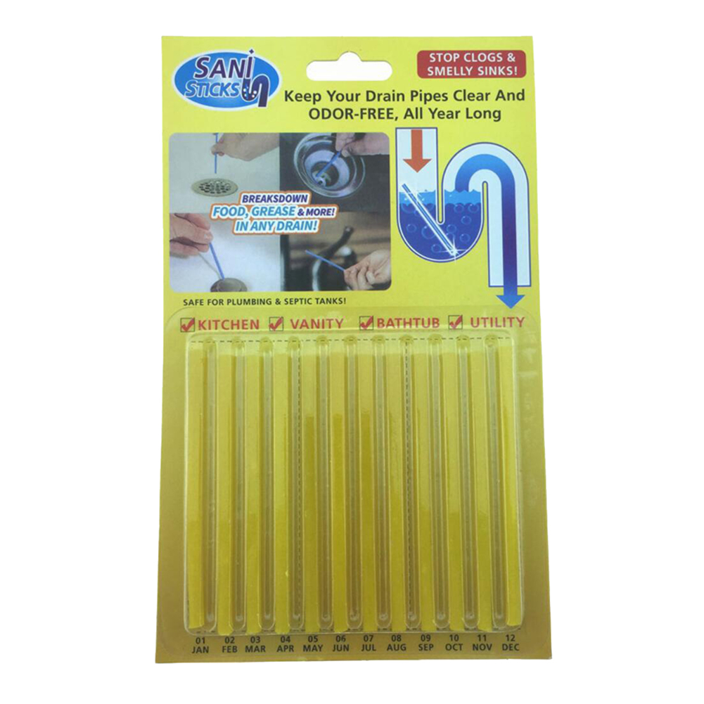 Sewage Cleaner Details About 12pcs Cleaning Sticks Sewer Drain Cleaner Kitchen Toilet Sewage Cleaning Tool