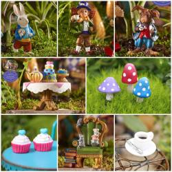 Precious Alice Wonderland Miniature Fairy Garden Kit Fairy Gardens Wa Australia Miniature Furniture Miniature Fairy Garden Starter Kits Miniature Garden Kits India