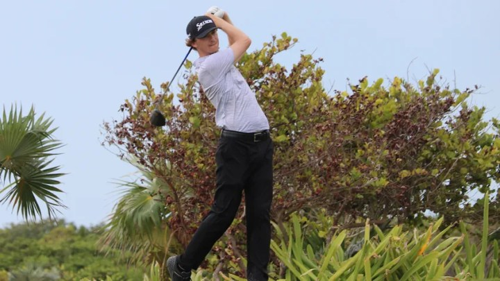 Will Wilcox found himself tied atop the leaderboard at 6-under-par at The Great Abaco Classic after feeling intense pressure at the Great Exuma Classic. (Kevin Prise/PGA TOUR)