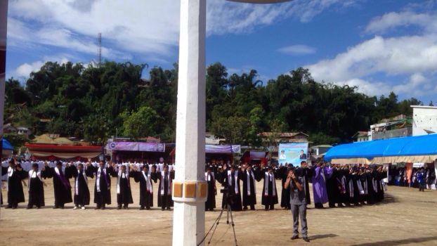 Sebanyak 187 pendeta GTM sedang memberkati tanah Mamasa dan memberkati tanah air Indonesia