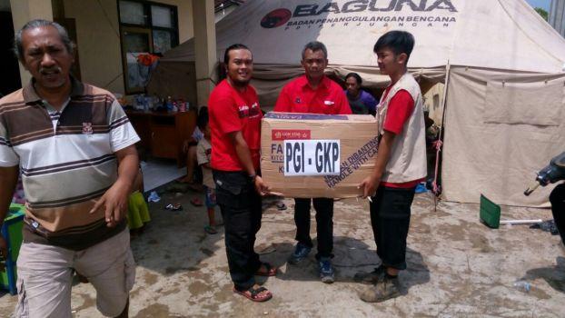 Bantuan PGI di Posko Cimacan, Garut