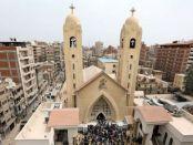 Gereja yang terkena ledakan bom di Mesir.     (Reuters)
