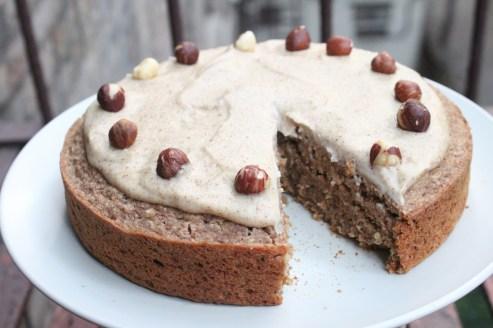 Apple Cinnamon Cake with Hazelnut Frosting