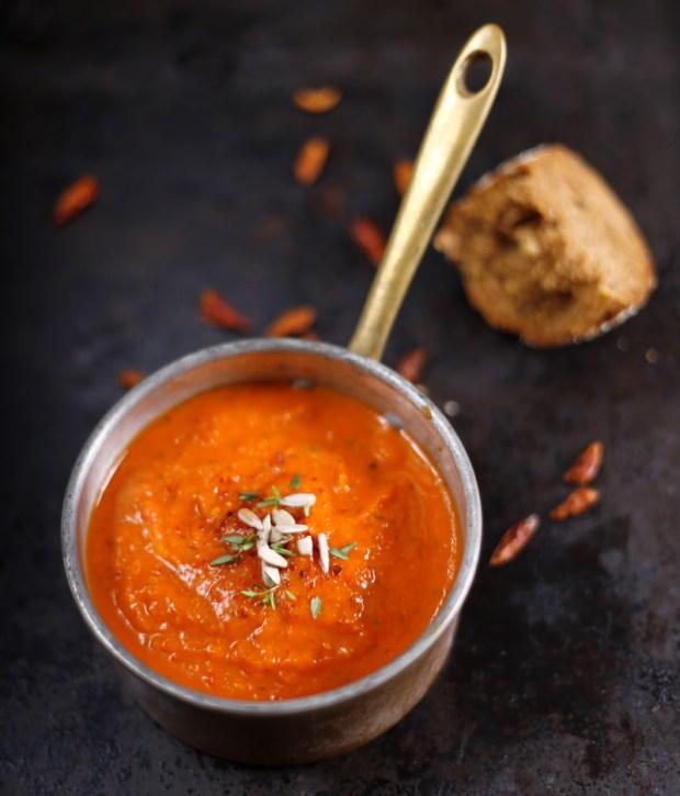 Creamy Pumpkin Soup with Bell Pepper
