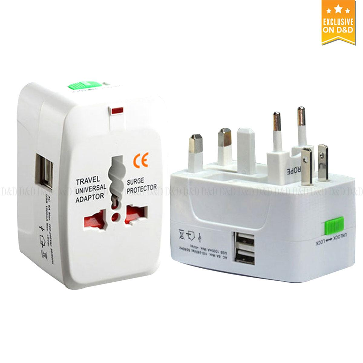 Australia Power Socket All In One Worldwide Travel Adapter Au Uk Us Eu Power Plug Universal Wall Ac100 240v Surge Protected Adaptor Charger With Usb Charging Port
