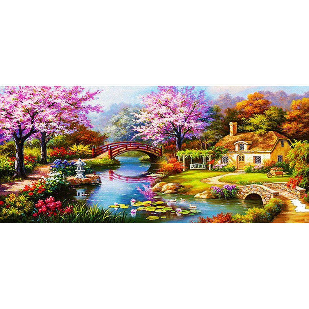 Wall Paintings For Sale 5d Diy Diamond Painting Full Square Drill Dream Home Embroidery For Wall Decoration 16x35 Inches