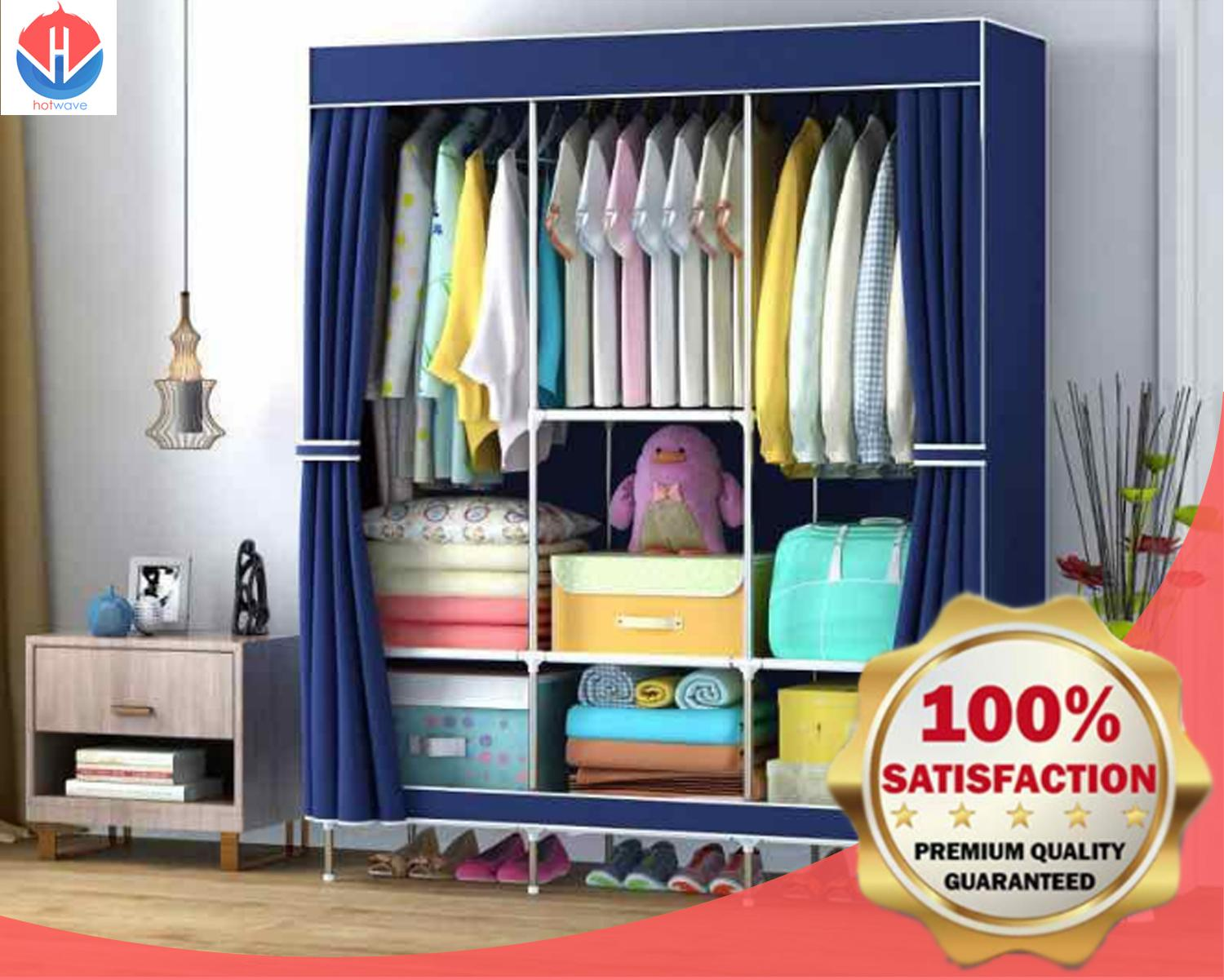 Clothes Storage King Size Home Wardrobe Clothes Storage And Organization Big Size 88130 Purple