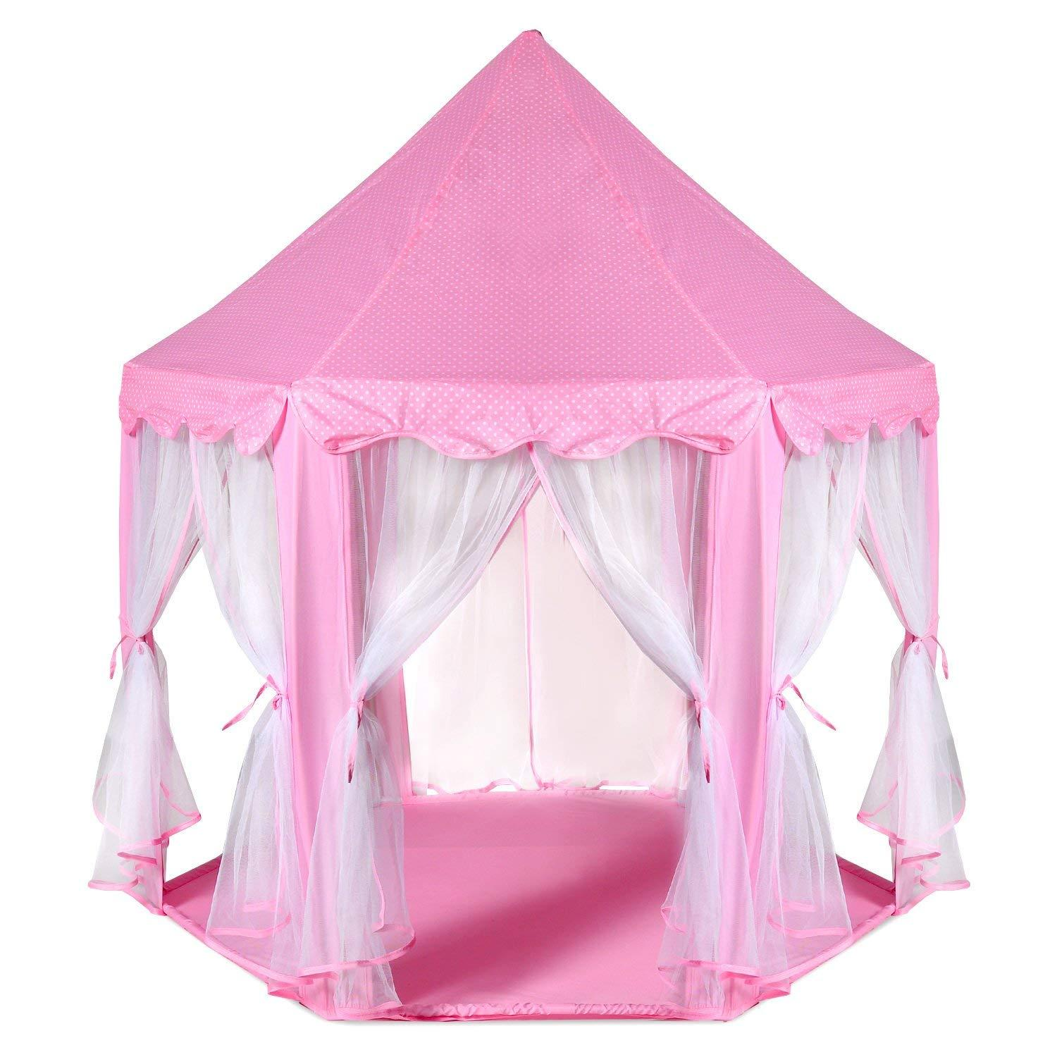 Kids Play Tent Large Indoor And Outdoor Kids Play House Pink Hexagon Princess Castle Kids Play Tent Child Play Tent