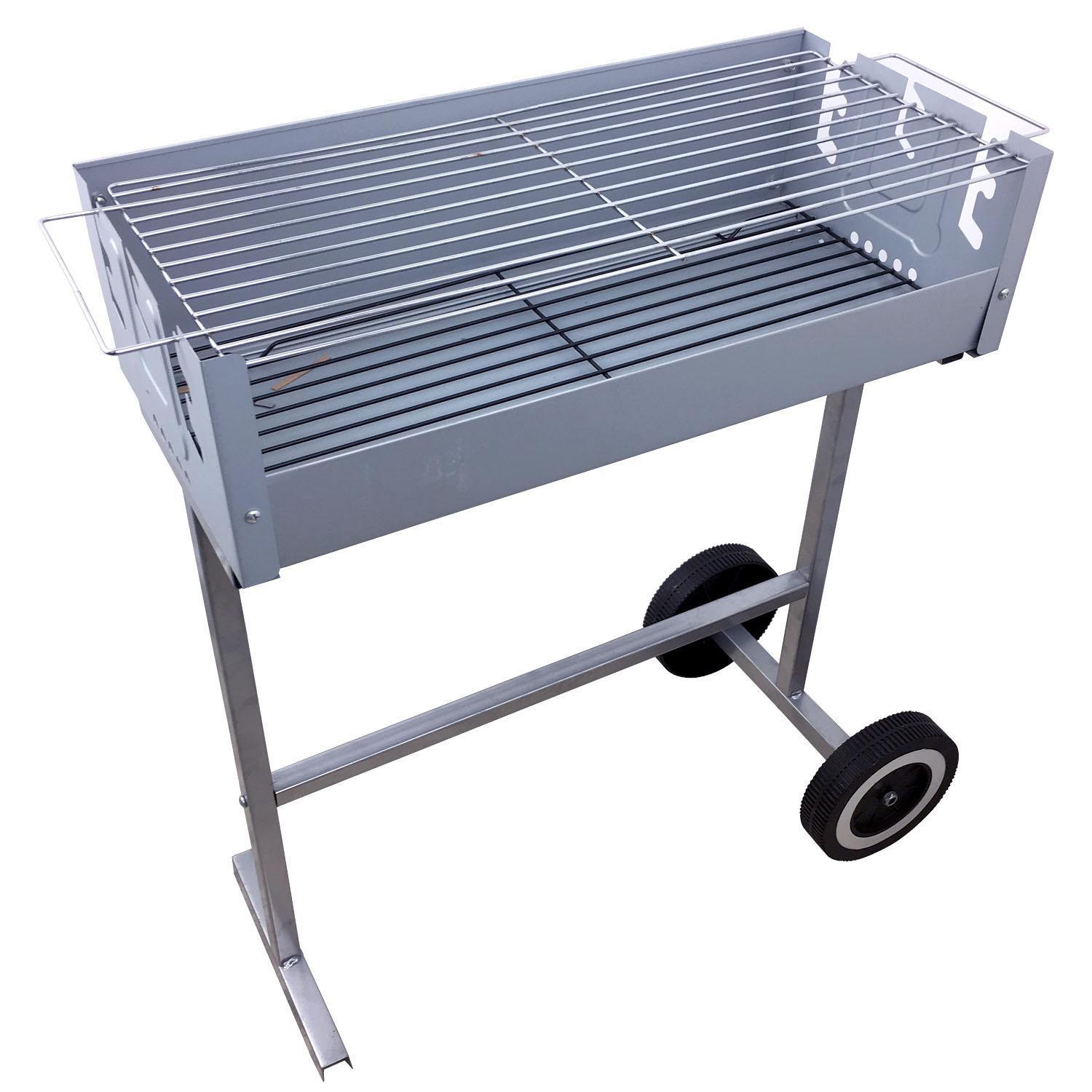 Outdoor Küche Broil King Portable Charcoal Bbq Barbeque Grill Trolley Silver