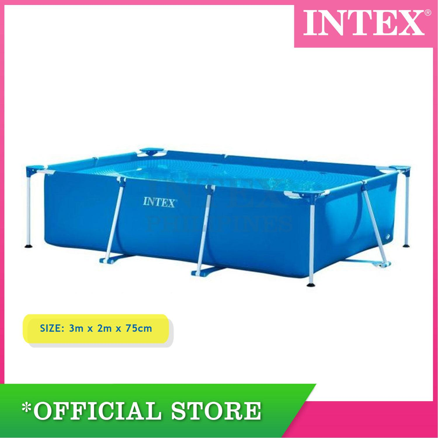 Pool Reinigungsset Intex Intex Rectangular Frame Pool 3 00m X 2 00m X 75cm