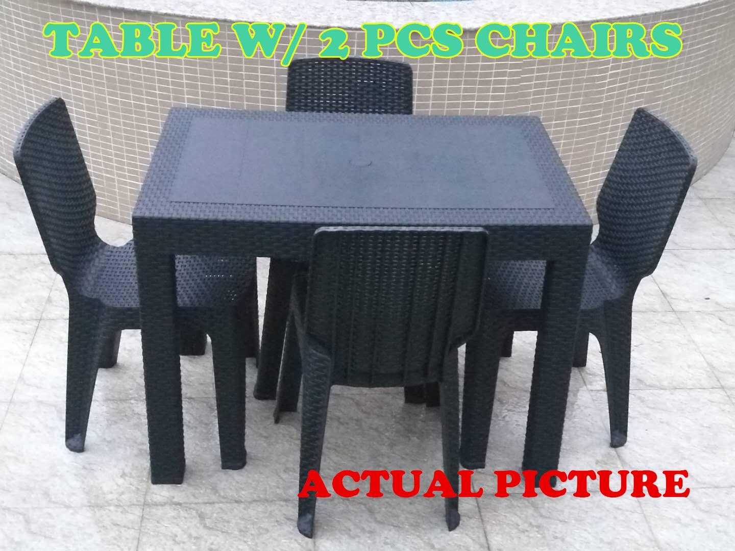 Rattan Lounge Chair Philippines Dining Table Set Table And 2pcs Chair Outdoor Table Indoor Table Dinning Room Set Furniture Set Rattan Design Sunrise 24 X38
