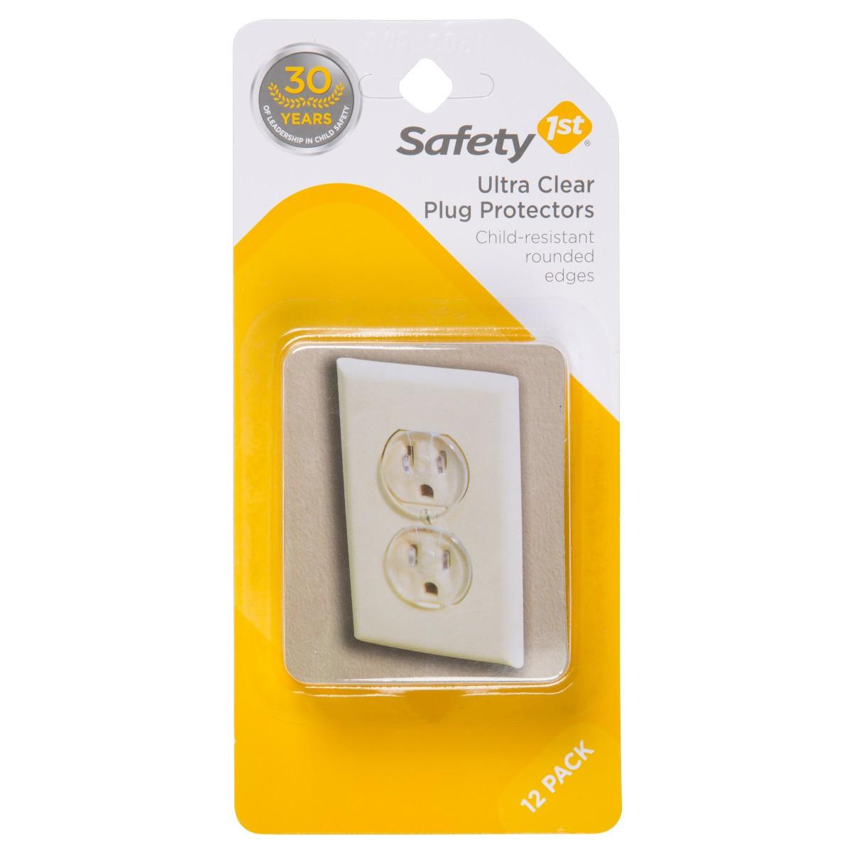 Fireplace Safety Screen Child Guard Safety First Outlet Plug Cover Clear Carded 12 Pack 1711