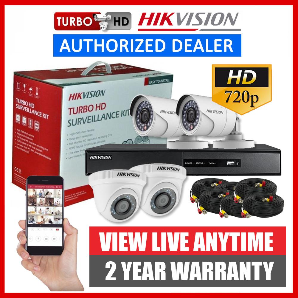Kit Camera Surveillance Exterieur Hikvision 4ch 1mp 720p 4 Camera Turbo Hd Cctv Kit Package 4 Channel 4ch2d2b 1mp