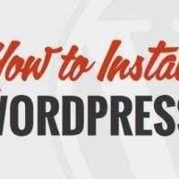 Hướng dẫn cài đặt một website wordpress