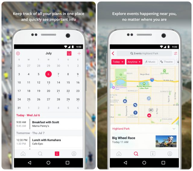 Events from Facebook gets released for Android after two months on iOS