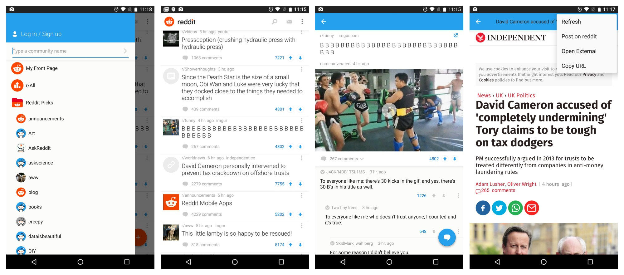 best layout for android app