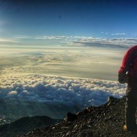 Good Morning : View From Top Of Mountain Slamet 3428 Mdpl