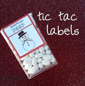 Snowman Poop Tic Tac Labels