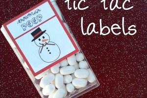 Snowman Poop (Free Printable)