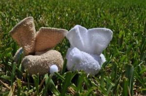 DIY wash cloth bunny, baby gifts,Boo boo bunny