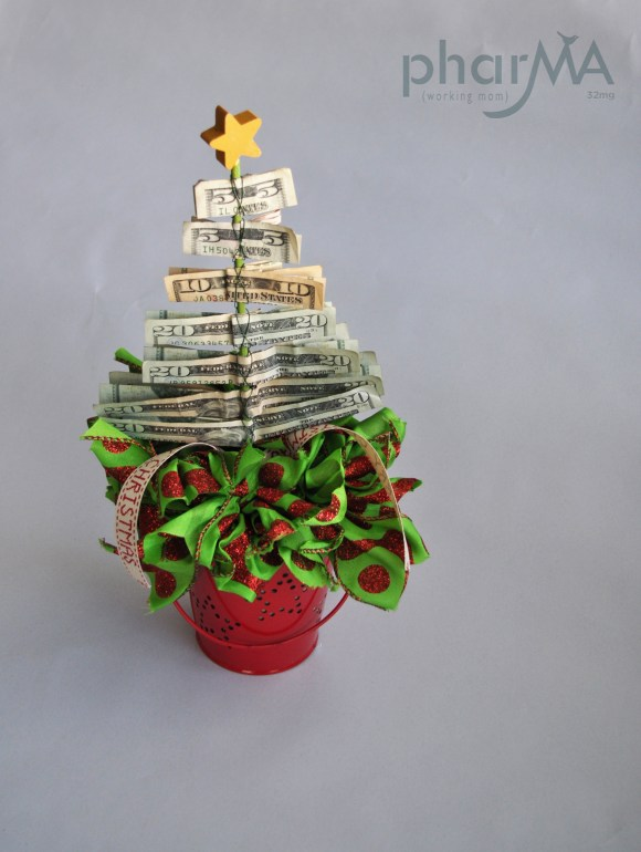 DIY Christmas Gifts, Christmas Tree made of Money