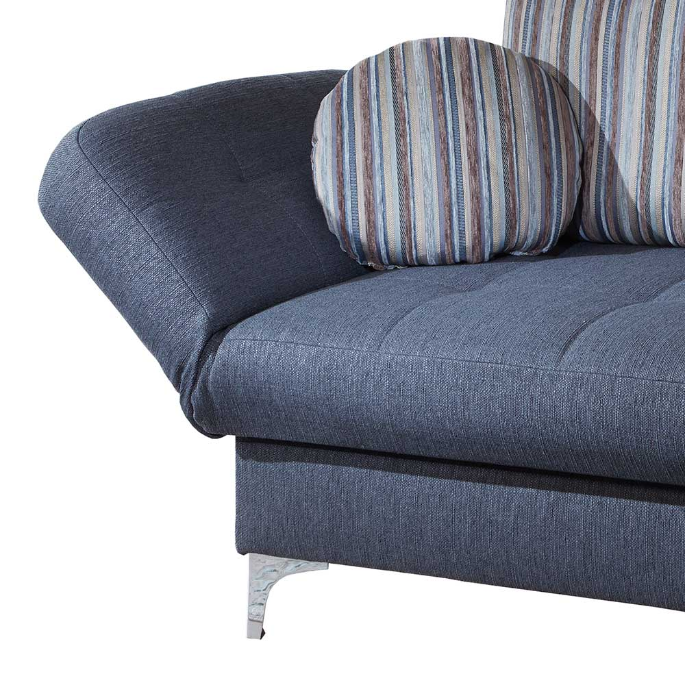 Blaues Schlafsofa Vakanza Mit Federkern Made In Germany Pharao24 De